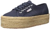 Superga 2790 Cotropew Fashion Sneaker, Navy, 39.5 EU/8.5 M US