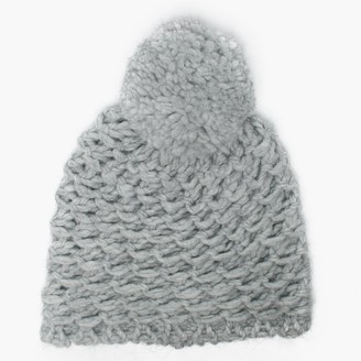 UGG Womens Yarn Light Grey Pom Pom Beanie Hat