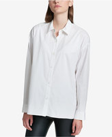DKNY Pleated-Back Button-Front Blouse