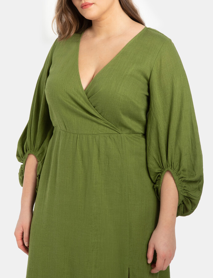 Thumbnail for your product : ELOQUII Full Sleeve Maxi Dress With Slit