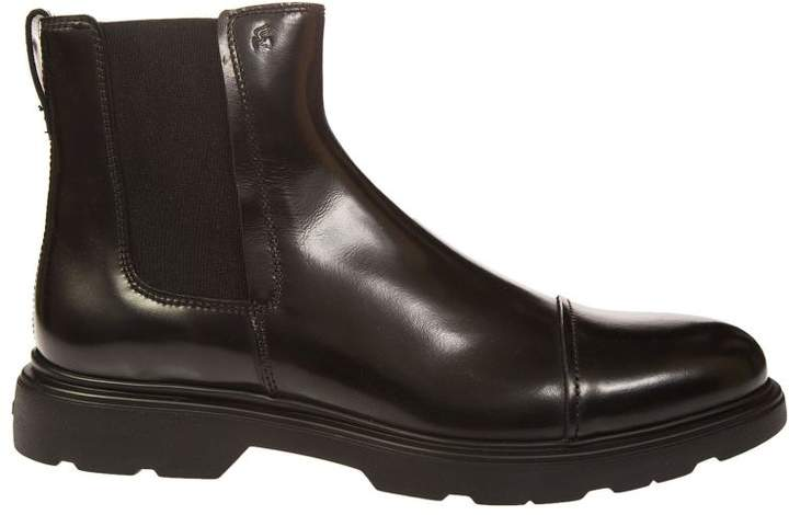 Hogan Paneled Ankle Boots