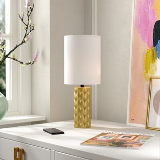 "Makenna 17"" Table Lamp Trule Teen Base Color: Gold"
