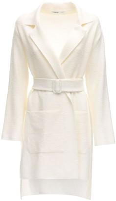Agnona Linen Blend Jacket W/ Belt
