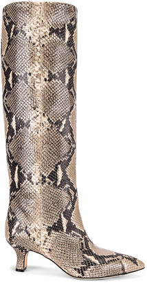 Paris Texas Python Print Boot in New Natural | FWRD