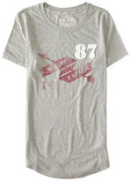 Aeropostale Womens Free State Nyc Banner Graphic T Shirt