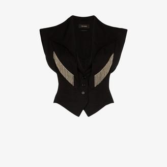 Isabel Marant Udalia chain trim waistcoat