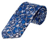 Brooks Brothers Blue Floral Silk Tie.