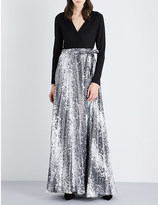 Diane von Furstenberg Aviva crepe and silk-blend wrap gown