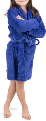 Leveret Royal Blue Shawl Collar Fleece Robe (Toddler, Little Girls, & Big Girls)