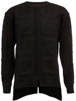 Juun.J asymmetric textured knit jumper - men - Polyester/Polyurethane - 48