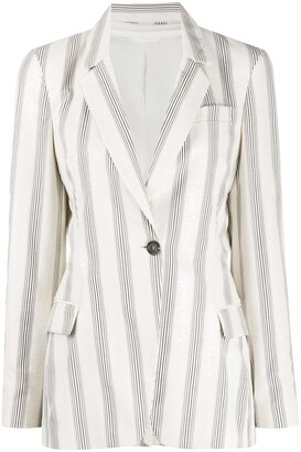 Brunello Cucinelli Striped Slim-Fit Blazer
