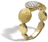 John Hardy Women's Dot 8MM Band Ring in Hammered 18K Gold with Diamonds