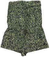 Cynthia Steffe Black & Yellow Green Spotted Romper