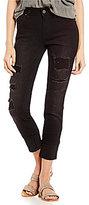 YMI Jeanswear WannaBettaButt Destructed Cuffed Ankle Skinny Jeans