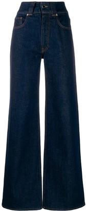 Victoria Victoria Beckham High Rise Wide Leg Jeans