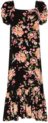 By Ti Mo Floral Print Midi Dress
