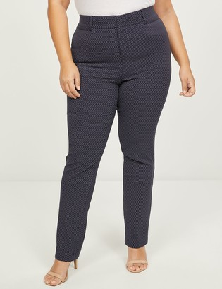Lane Bryant Power Pockets High-Rise Sexy Stretch Straight Pant - Dots