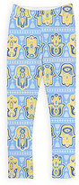 Urban Smalls Blue & Yellow Hamsa Leggings - Toddler & Girls