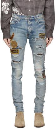 Amiri Indigo Biker Patch Jeans