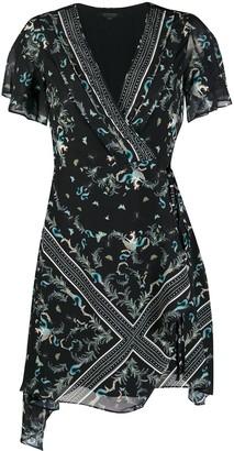 AllSaints Floral Mini Dress