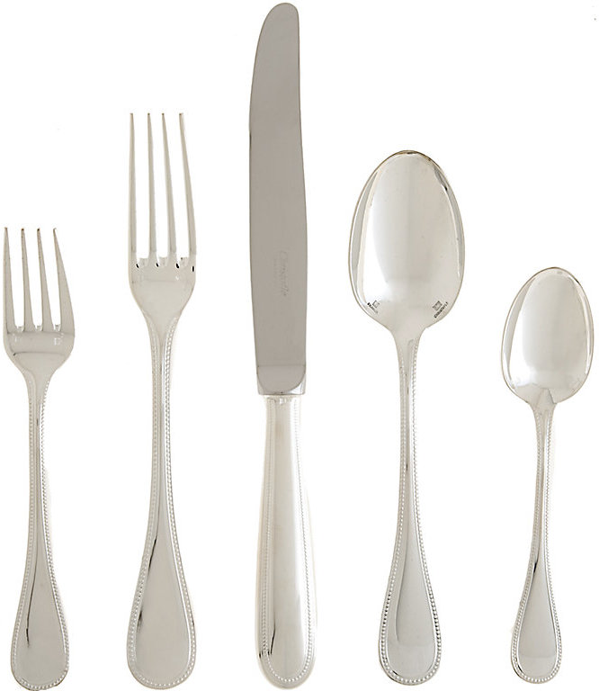 Christofle Perles Silverplate Place Setting