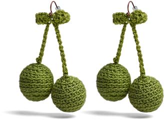 Cherries crochet earrings