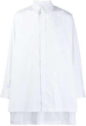 Fumito Ganryu high low hem shirt