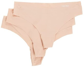 Calvin Klein Underwear Invisibles 3-Pack Thong (Light Caramel/Light Caramel/Light Caramel) Women's Underwear
