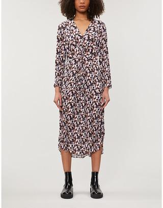 Vince Floral-print woven midi dress