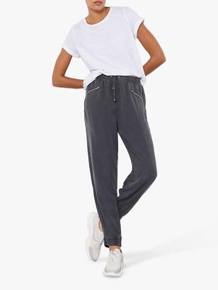 Mint Velvet Zip Pocket Joggers, Grey