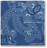 Turnbull & Asser Paisley-Print Silk Pocket Square