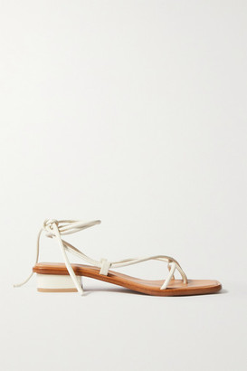 LOQ Ara Leather Sandals - Cream