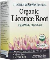 Traditional Medicinals Traditional Medicinals, Organic Licorice Root, Fair Wild, 16 ct