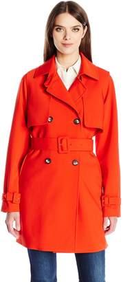 Calvin Klein Women's Rain Trench Jacket with Belt