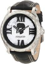Colosseum Italico Men's Marbleized Dial Leather Watch White ITCS03-F