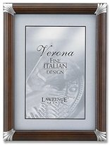 Lawrence Frames 8 by 10-Inch Walnut Pinstripe Wood with Pewter Metal Corners