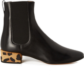 Francesco Russo Chelsea leather and calf-hair ankle boot