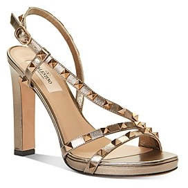 Valentino Women's Rockstud Embellished Strappy High-Heel Sandals