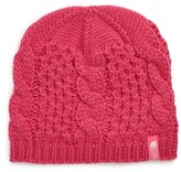 The North Face Girl's Minna Cable Knit Beanie - Pink