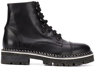 AGL Lace Up Biker Boots