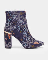 Ted Baker Printed heeled ankle boots