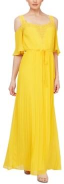 SL Fashions Cold-Shoulder Maxi Dress