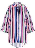 Quiz Multicoloured Stripe Cold Shoulder Shirt