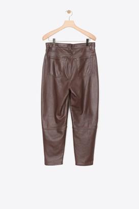 3.1 Phillip Lim Leather Banana-Leg Pant