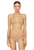 Milly Cabana Lotus Print Nikia Bikini Top