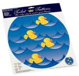 Rubber Ducky Toilet Tattoos Blue Round Decorative Applique