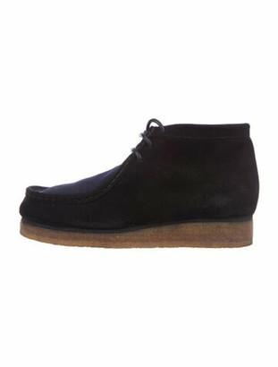 Proenza Schouler Suede Lace-Up Boots Black