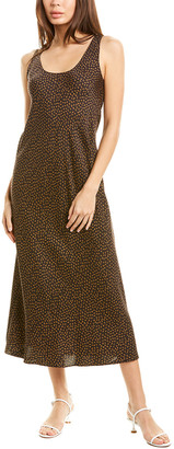 Vince Star Dot Silk-Blend Maxi Dress