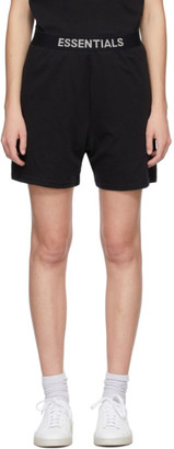 Essentials Black Jersey Lounge Shorts