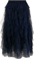 P.A.R.O.S.H. layered tulle skirt